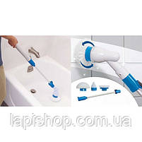 Универсальная беспроводная щетка для уборки Spin Scrubber | Электрическая швабра с насадками, фото 2
