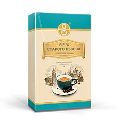 Мелена кава Кава Старого Львова Лігумінна з ароматом ірландського крему 250 грам у вакуумній упаковці