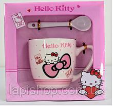 Чашка керамическая с ложкой Hello Kitty, Warm Wishes, Frozen в подарочной упаковке