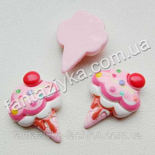 Пластиковая серединка Мороженое светло-розовое 22мм