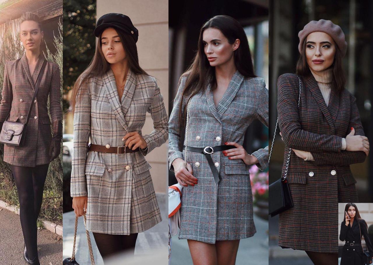 Женское платье-пиджак с длинными рукавами / XS-L, разные цвета, AL-Пл-пиджак