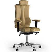 Кресло KULIK SYSTEM ELEGANCE Экокожа с подголовником без строчки Бежевый (10-901-BS-MC-0204)