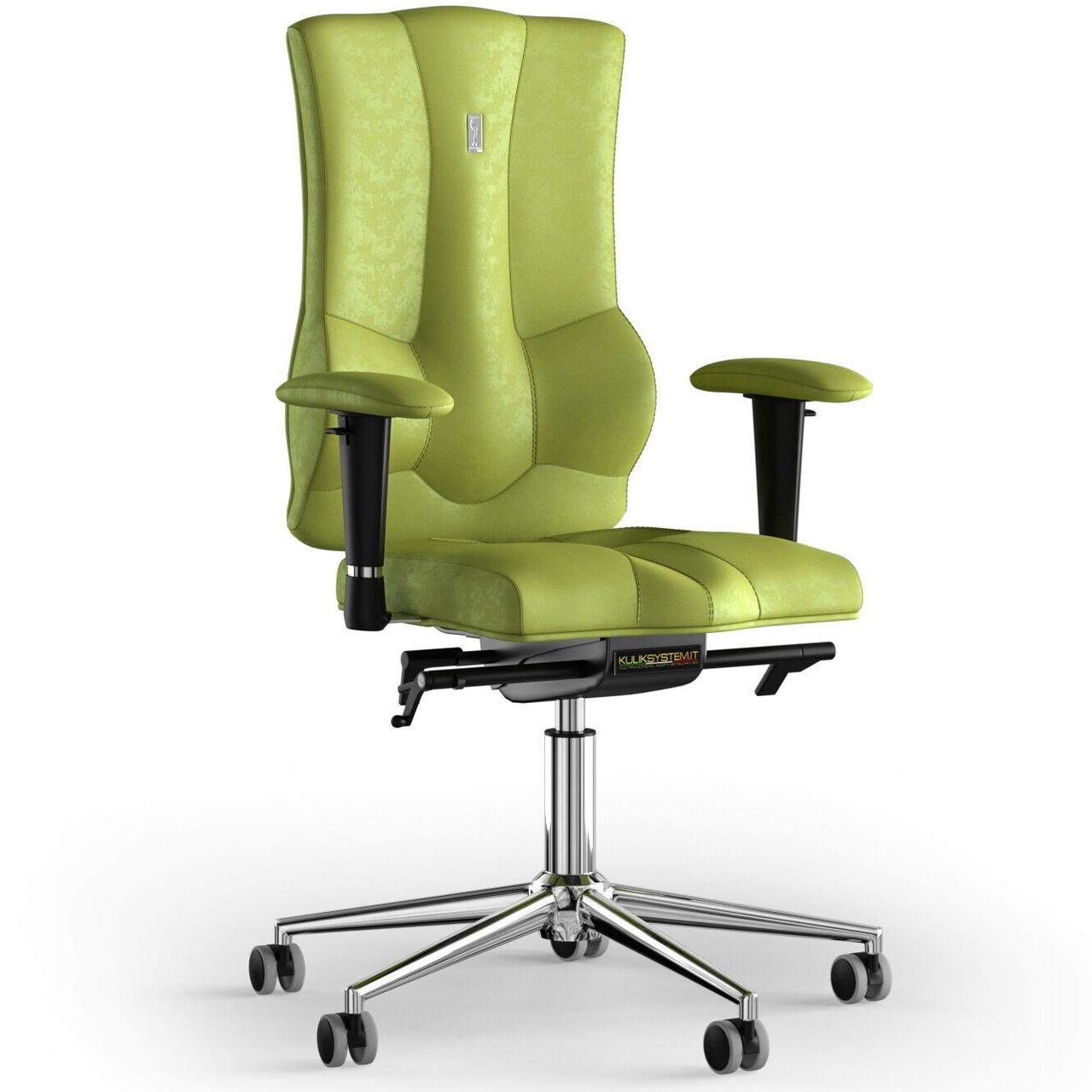 Кресло KULIK SYSTEM ELEGANCE Антара без подголовника без строчки Оливковый (10-909-BS-MC-0303)