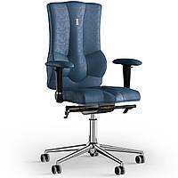Кресло KULIK SYSTEM ELEGANCE Антара без подголовника без строчки Кобальтовый (10-909-BS-MC-0304)
