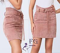 Короткая женская юбка из вельвета, фото 1