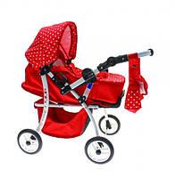 Игрушечная rоляска для кукол Adbor Sisi Si-06 (Красная)