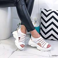 Женские белые босоножки на платформе ОВ 12823, фото 1