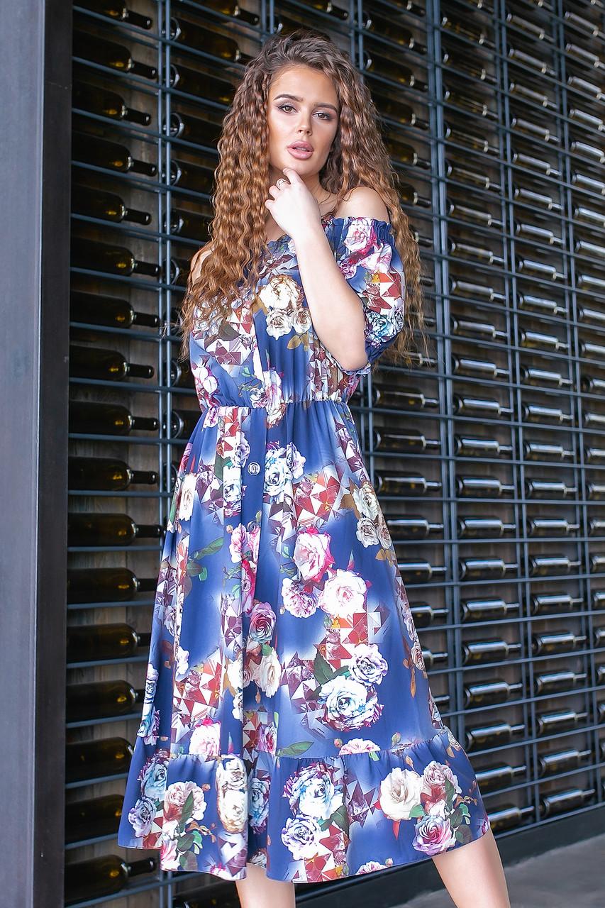 Яскраве плаття-сарафан ( асорті на темно-синьому, 20), арт 199