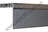 """Карниз для штор алюминиевый """"Модель 11"""" с широким молдингом на две дорожки под евро крючок. Структура """"Антик"""", фото 1"""