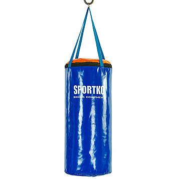 Мішок боксерський Циліндр ремінне крепл. ПВХ Юнга SPORTKO (древ. тирса, h-50см, d-24см, вага-5кг)
