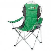 Крісло складне з підлокітниками і підсклянником 60x60x110 / 92 см, Camping // Palisad