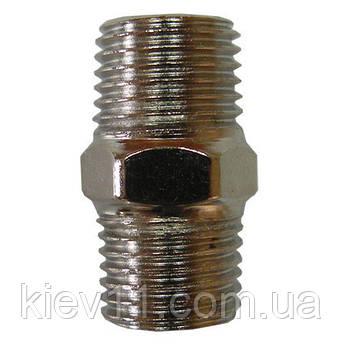 Соединитель резьбовой с наружной резьбой 1/4*1/4 AIRKRAFT SMM04-04