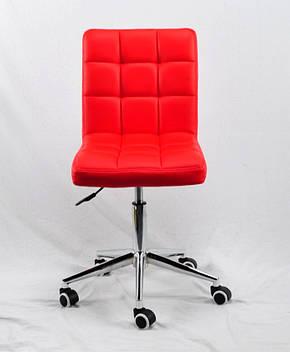 Офисное кресло на колесиках из эко кожи AUGUSTO Modern Office с хромированным основанием, фото 2