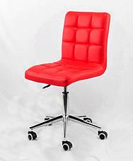Офисное кресло на колесиках из эко кожи AUGUSTO Modern Office с хромированным основанием, фото 3