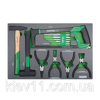 Комбинированный набор инструментов 13ед. (в ложементе) TOPTUL GED1322