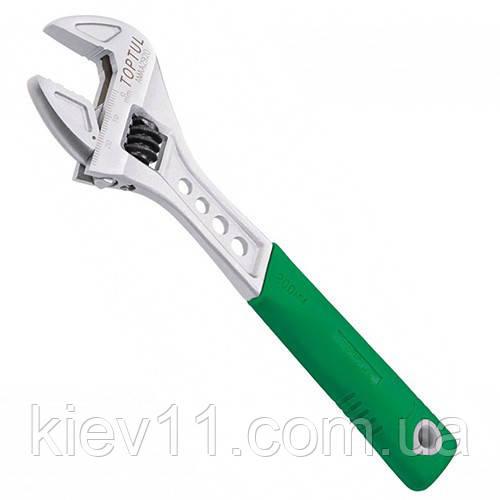 """Ключ разводной сантехнический TOPTUL 12"""" 309мм с обрезиненной ручкой AMAA3830"""