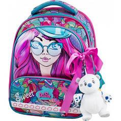 Школьный ранец для девочки Delune 9-122 (сумка для обуви+пенал+брелок+сумка спортивная и фартук)  FULLSET