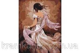 """Картина по номерам """"Танцівниця фламенко""""40х50 см"""