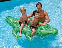 """Детская Надувная игрушка Плотик Intex """"Крокодил"""" 58546 NP размером 168 х 86 см, от 3-х лет"""