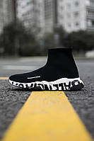 Женские кроссовки Balenciaga Speed Trainer Graffiti White, Реплика, фото 1