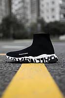 Жіночі кросівки Balenciaga Speed Trainer Graffiti White, Репліка, фото 1