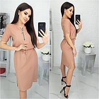 Шикарное летнее платье из натурального льна! ( кофе с молоком) N181