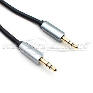 Аудио кабель AUX 3.5 mm jack (премиум качество),  1 м, фото 2