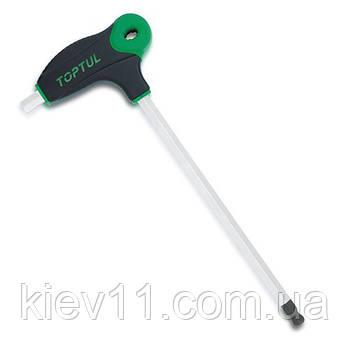 Ключ шестигранный L-образный с ручкой 8мм 265x116мм TOPTUL AGCD0827