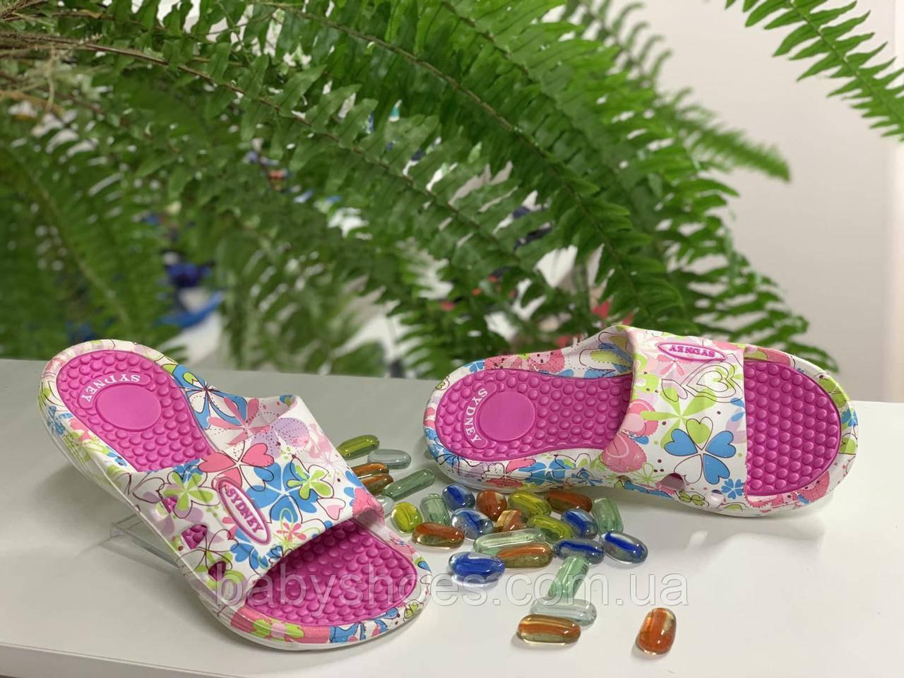 Пляжные шлепки для девочек Sydney р31-36. B-51