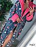 Крутой теплый халат с сердцами и капюшоном, фото 2