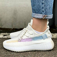 Adidas Yeezy Boost 350 V2 White/Ice Cream | кроссовки женские и мужские; белые-цветные: меняют цвет на солнце