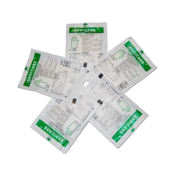 Перчатки Medicare латексные смотровые стерильные неприпудренные р.М