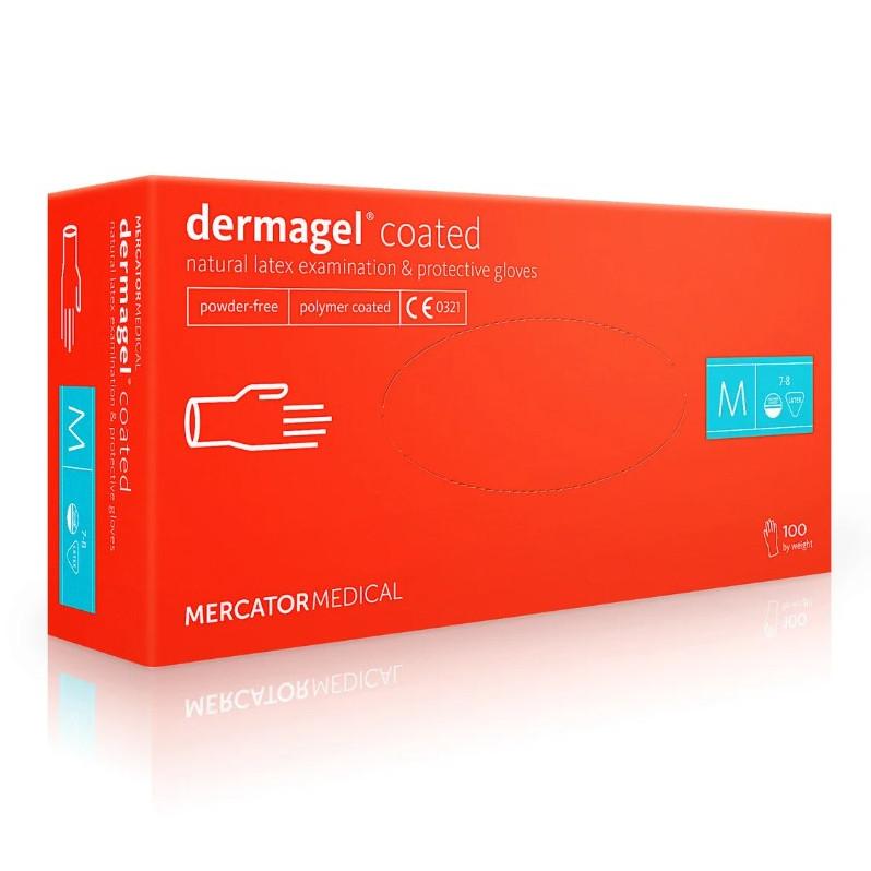 Перчатки Dermagel латексные смотровые стоматологические нестерильные неприпудренные р.S
