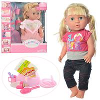 """Кукла пупс (Baby born, беби борн) """"Валюша"""". Горшок, много функций и аксессуаров."""
