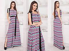 Платье в пол в расцветках 82369