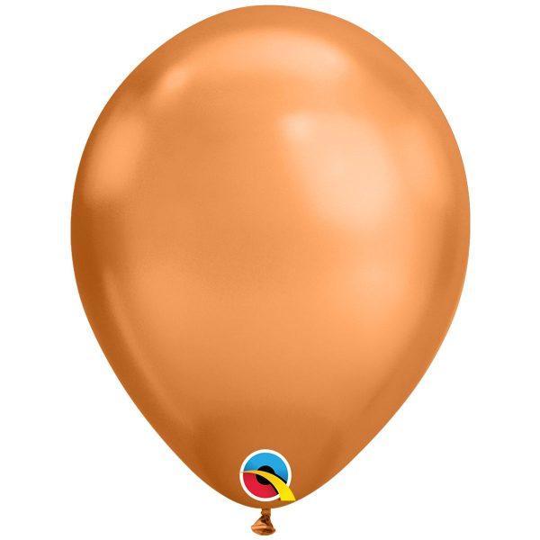 """Латексна кулька хром мідний 11"""" / 18см Silver Qualatex (США)"""