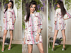 Платье стильное в расцветках 82072