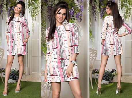 Платье стильное в расцветках 82072, фото 2