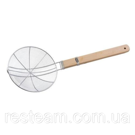 Шумовка сетка с деревянной ручкой, (d-20 см, L-51 см)