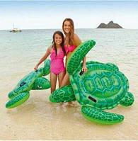 Детский надувной плотик для катания Intex 57524 Морская Черепаха 150 х 127 см