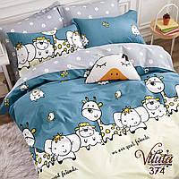 Постельное белье в детскую кроватку Viluta. Сатин 374, фото 1