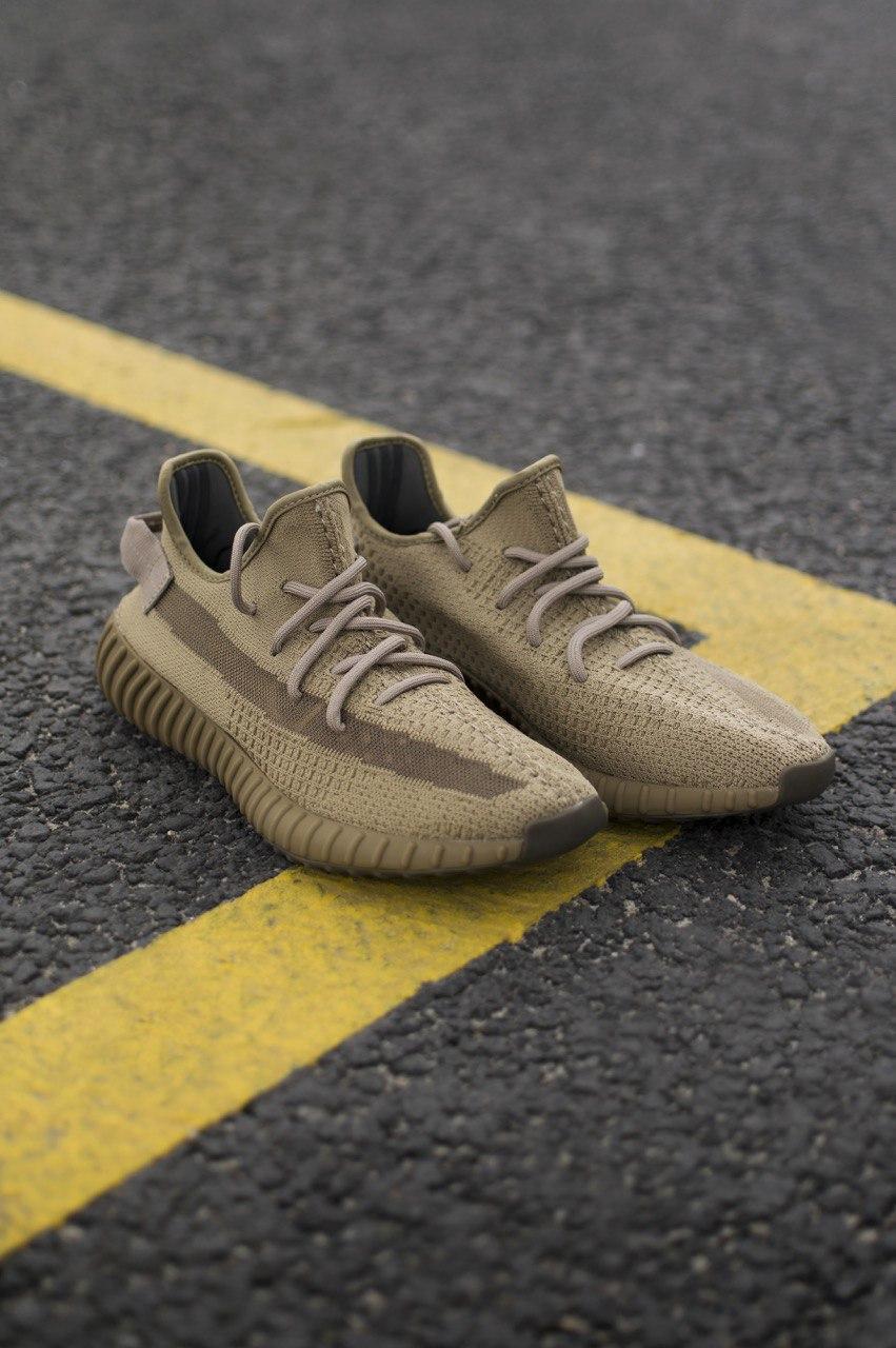 Чоловічі кросівки Adidas Yeezy 350 Earth , Репліка