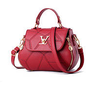 Черная женская сумка в стиле Louis Vuitton