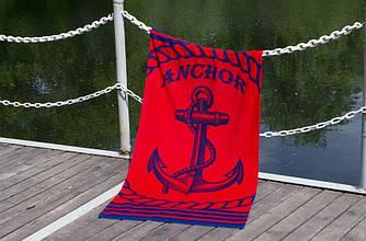 """Полотенце пляжное велюровое """"Lotus"""" Anchor New"""