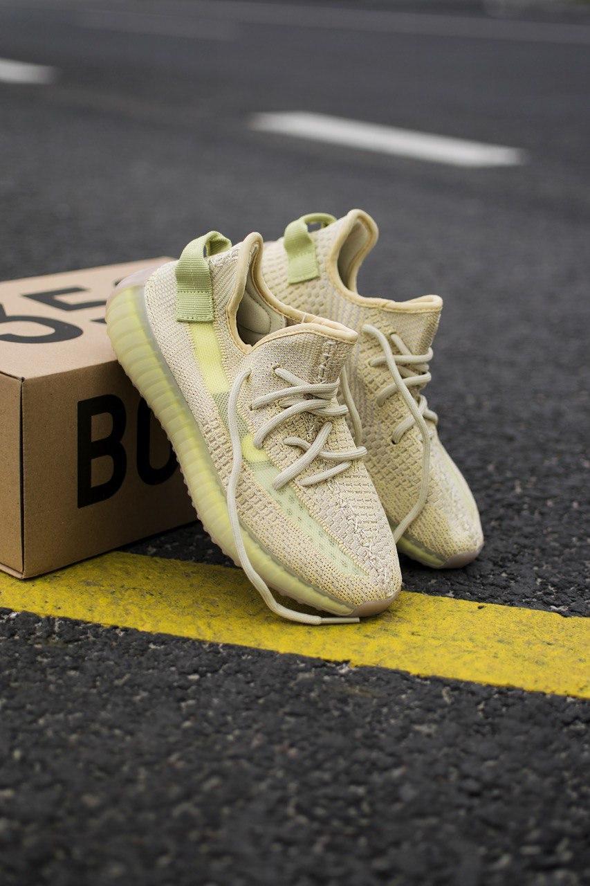 Чоловічі кросівки Adidas Yeezy 350 Flax , Репліка