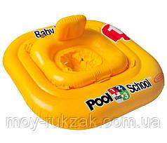 Надувной детский круг-плот Pool School, Intex 56587, серия «Школа плавания», с трусиками 79*79см