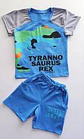 Летние костюмы для мальчиков с динозавром 8895М