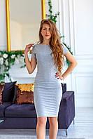 Платье женское 130 (42/46 универсал) (цвета: хаки, чёрный, серый СП, фото 1