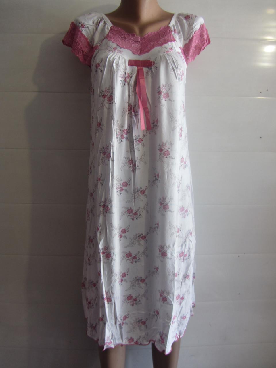 Женская ночная рубашка бамбук