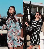 Женское платье-шемизье с длинным рукавом / XS-L, разные цвета, AL-Шемизье